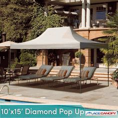 Ace Canopy Diamond Pop Up Tent 10u0027x15u0027 300.00 & Tarp Awnings Door window and patio tarps awnings for shade and ...