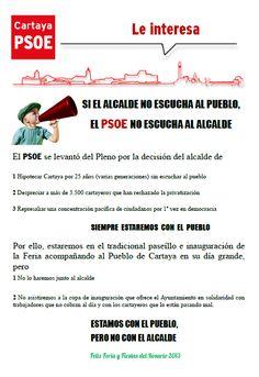 PSOE de #Cartaya ante la actitud antidemocrática del alcalde