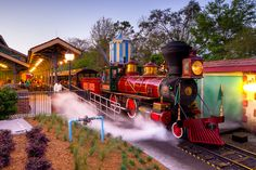 Engine No. 4 Roy O. Disney at Walt Disney World's new Fantasyland Station.