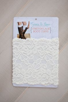 Oakleigh Rose - Stretch Lace Boot Cuffs, $20.00 (http://www.oakleighrosestyle.com/stretch-lace-boot-cuffs/)