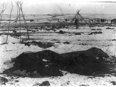 Wounded Knee South Dakota | Big Foot's camp three weeks after the Wounded Knee Massacre (Dec. 29 ...