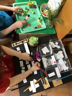 The Grammar Garden an Invitation to Learn — Homemade Playdough, Grammar Lessons, Handwriting Practice, Use Of Plastic, Tea Tree, Invitations, Learning, Garden, Garten