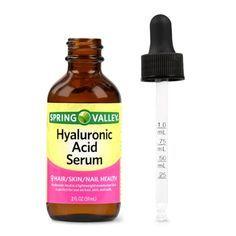 Spring Valley Hyaluronic Acid Serum, 2 Oz Image 2 of 8 Amla Hair Oil, Anti Hair Loss Shampoo, Cedar Oil, Hair Loss Medication, Jumbo Braiding Hair, Hyaluronic Serum, Biotin Hair, Natural Skin Care, Tips