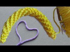 DIY Crochet Cordon Tutorial - How To Make Crocheted i-cord Crochet I Cord, Crochet Video, Crochet Diy, Easy Crochet Patterns, Crochet Gifts, Amigurumi Patterns, Crochet Stitches, Tutorial Crochet, Amigurumi Tutorial