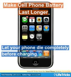 Smart Phones - Make Cell Phone Battery Last Longer