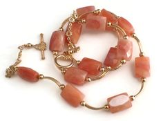 Salmon Spring Necklace http://lottiestrinkets.com/gold-plated-necklaces/salmon-spring-necklace