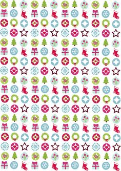 Free Download: Folksy festive motifs - perfect for gift-tags and Christmas greeting cards