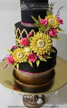 Dahilia & Roses - Cake by D Cake Creations™