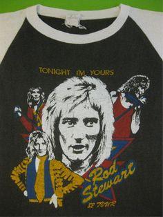 Vintage ROD STEWART 1982 tour SHIRT concert by rainbowgasoline Vintage Band T Shirts, Band Shirts, Vintage Shirts, Rod Stewart, Best 80s Music, Rock Tees, Vintage Rock, Concert Tees, Wayback Machine