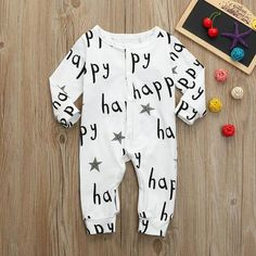 29936a9c1575 MUQGEW Toddler Baby Boys Girls Long Sleeve Letter Print Romper Jumpsuit  Clothes Newborn Toddler Infant Baby