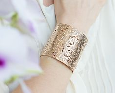 Valentines day sale Rose Gold cuff Rose gold by KelkaJewelry, $145.00