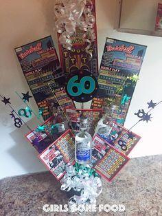 DIY Lottery Ticket and Liquor Birthday Bouquet.