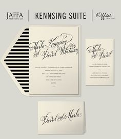 The envelope liner makes this invitation! It's the perfect marriage of timeless elegance and fresh modern style.  http://www.jaffaprinting.com/wedding/invitations/traditional/kensing/kensing.htm #weddingenvelopeliner, weddingliner, weddingenvelope, #modernweddinginvitation