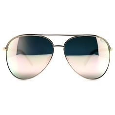 Quay Australia X Shay Mitchell Vivienne Aviator Sunglasses in Gold/Rose