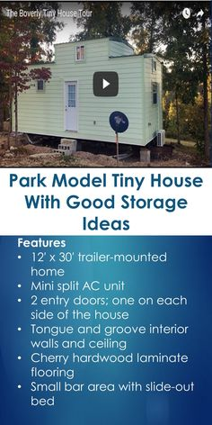 Park Model Tiny House With Good Storage Ideas | Tiny Quality Homes