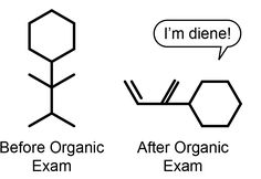 Here Are Survival Tips: You need a sense of humor to survive organic chemistry class.Taking Organic Chemistry? Here Are Survival Tips: You need a sense of humor to survive organic chemistry class. Organic Chemistry Humor, Science Puns, Funny Science Jokes, Chemistry Class, Nerd Jokes, Science Chemistry, Nerd Humor, Chemistry Drawing, Funny Chemistry