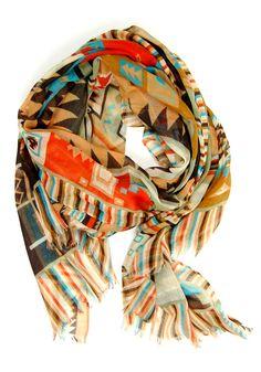 Mayan pattern scarf