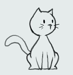 Cute cat drawing