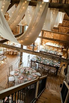 Gorgeous wedding reception set in a barn!!! - Click image to find more weddings posts