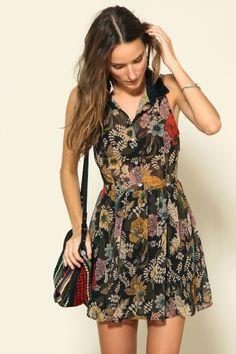 vestido curto poliana