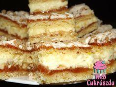 Habos-krémes linzer Hungarian Desserts, Hungarian Cuisine, Hungarian Recipes, Baking Recipes, Cookie Recipes, Dessert Recipes, Peach Yogurt Cake, Austrian Recipes, Delicious Desserts