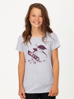 LOVE this girl snowboarder tee!  From Roxy, sizes 7-16 (but only a few left!)