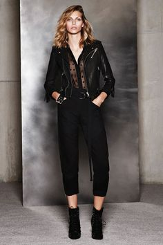 31 All-Black Outfit Ideas That Are Seriously Creative #refinery29  http://www.refinery29.com/creative-black-outfits#slide21  The sheer, polka-dot blouse gives this look a Parisian, Carine Roitfeld-esque edge.