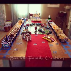 My son is crazy about Thomas the Train. I mean c-r-a-z-y. So naturally he decided to have a train party!It was pretty fun to put togeth...