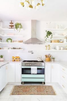 Open shelving- a reason to buy all new kitchenware :)