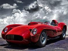 '57 Ferrari 250 Testa Rossa. My favorite red, Ferrari Red!