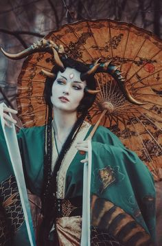 I'm actually not sure what a LARP costume is, but this one looks rad. Foto Fantasy, Dark Fantasy, Fantasy Art, Geisha, Character Inspiration, Character Art, Illustration Fantasy, Fantasy Photography, Maquillage Halloween