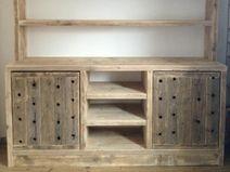 wunderschönes Bauholz Sideboard mit Aufsatzregal
