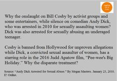Andy Dick, not Bill Cosby, was convicted of sexually assaulting women.