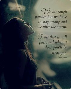 Rough patches happen in #recovery but you'll always get through it stronger and wiser..