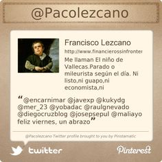 @Pacolezcano's Twitter profile courtesy of @Pinstamatic (http://pinstamatic.com)