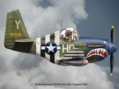 North American P-51B-5-NA USA/ England 1944