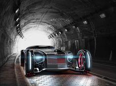 2030 Rolls Royce Eidolon par Ying Hern Pow  Voici une vision futuriste de la marque de voitures Rolls Royce, dessinée et imaginée par le designer automobile Ying Hern Pow.  Cette Rolls Royce qui porte le nom de « 2030 Rolls Royce Eidolon » est inspirée des yachts de luxe et utilise la technologie Omniwheel qui permet à ce petit bijou d'offrir une maniabilité incroyable en ville avec un rayon de braquage de 0 pour ce véhicule de six mètres de long.