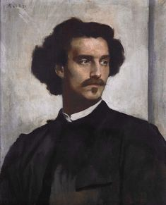 "Anselm Feuerbach (1829-1880) ""Self-Portrait"" (1873) Oil on canvas Located in the Alte Nationalgalerie, Berlin, Germany"