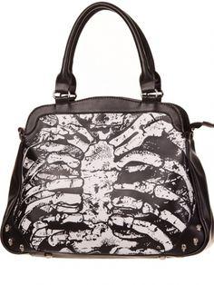 """Women's """"Skeleton"""" Handbag by Banned Apparel (Black) #inkedshop #skeleton…"""