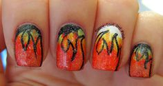 Peace, Love and Polish: Abstract-y Fire Nails
