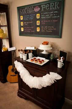 Friends Themed Party dessert table.  Jenny can we do this, please!? I don't even care if we're the only ones there! :)