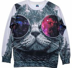 S-ZONE 3D Cool Cat Animals Sweatshirts Space Print Pullovers Jumper T-shirt Tee No description (Barcode EAN = 0633155281576). http://www.comparestoreprices.co.uk/mens-clothes/s-zone-3d-cool-cat-animals-sweatshirts-space-print-pullovers-jumper-t-shirt-tee.asp