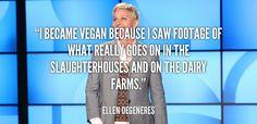 12 inspiring vegan celebrities - love ellen degeneres!! | The Friendly Fig