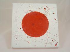"""Défi de septembre : Cadre minimaliste """"hinomaru"""" : drapeau du Japon, en tissus et vernis @long-nathalie"""