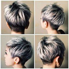 Sølv og Trendy grå frisurer = smukke! - Kortfrisuredk.com