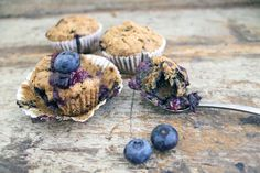 Blueberry muffins (Paleo, AIP, low FODMAP, gluten free, lactose free and egg free)