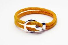 Men's nautical bracelet in egg yellow rope unisex by Beh1ndByMK