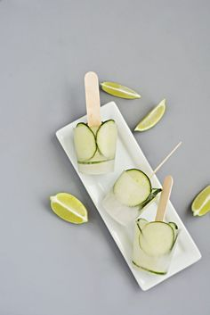 Cucumber & Lime Ice Pops