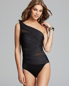 Miraclesuit Net Work Jena One Piece Swimsuit | Bloomingdale's. Maybe a little more my speed