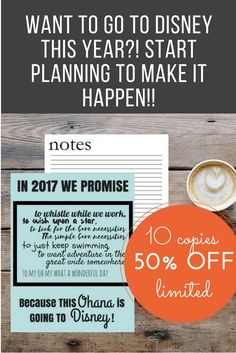 SALE 50% OFF (limited - ONLY 10 available)  I feel strongly that EVERYONE needs to go to Disney! So if 2017 is your year, let me help you with this COMPREHENSIVE PLANNER for all your Disney Trip Needs!  I'm excited for you!!